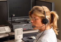 phone dispatcher at work